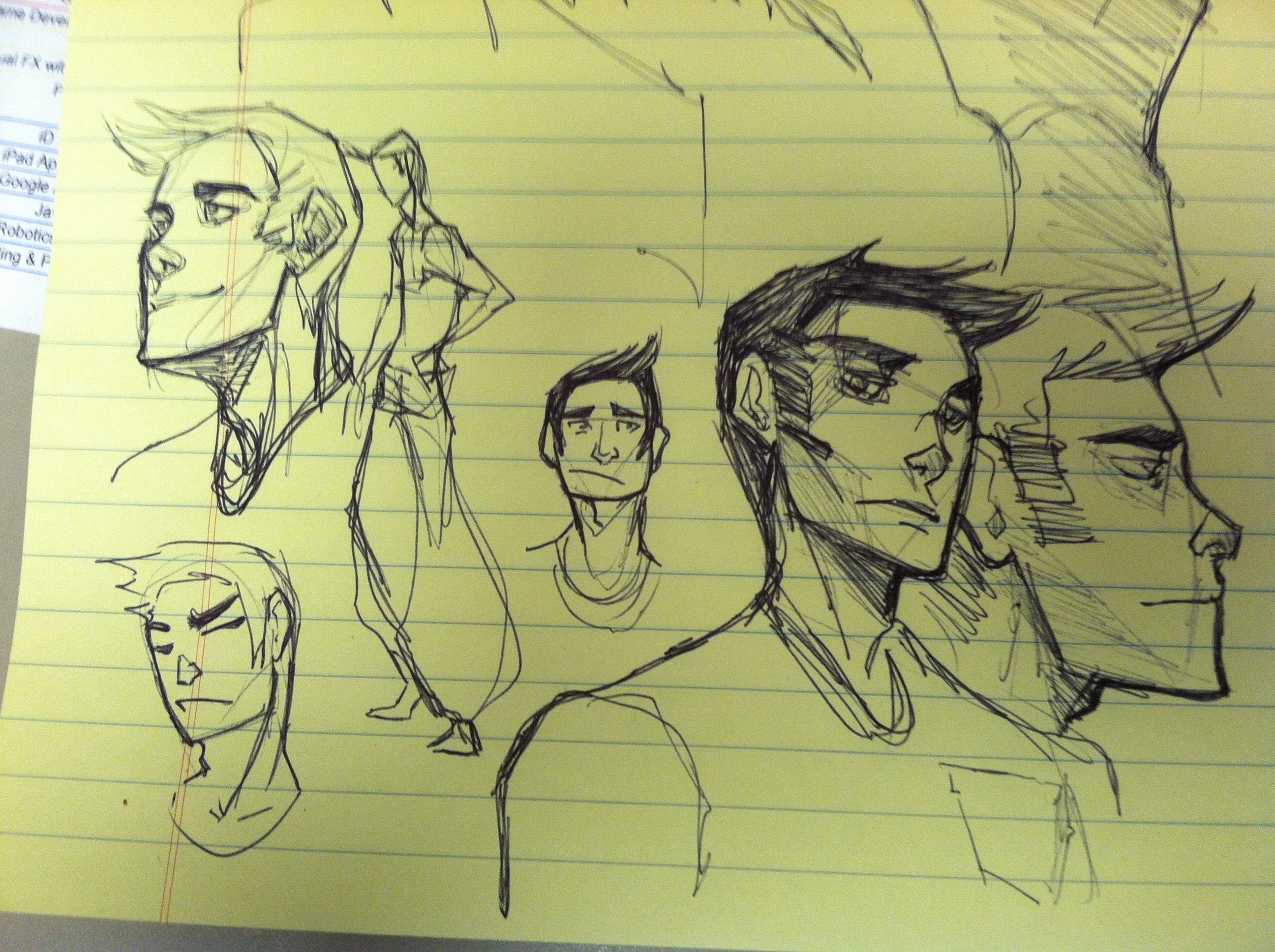 Some concept sketches for Sam, one of the main characters of the book by Jen.