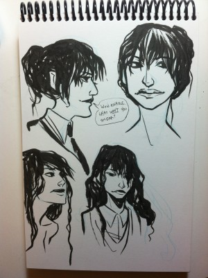 Some concept sketches for Rebecca Devlin (Devi)